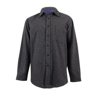 Club Room Men's Wool-Blend Heather Over Shirt