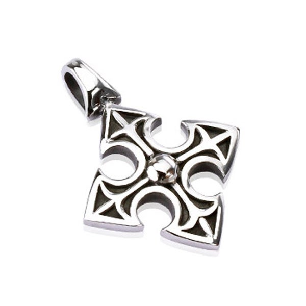 Stainless Steel Medieval Celtic Cross Pendant (26 mm Width)