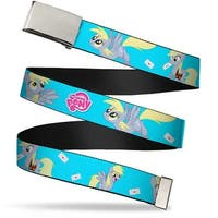 Blank Chrome Buckle My Little Pony Derpy Delivering Mail Poses Web Belt