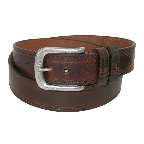 Danbury Men's Leather Double Loop Belt