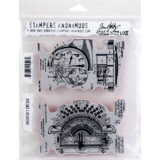 "Tim Holtz Cling Stamps 7""X8.5""-Inventor 1"