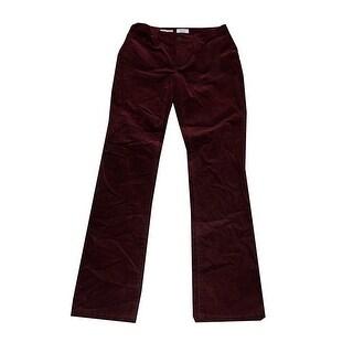 Charter Club Smoky Claret Tummy-Control Corduroy Pants 16