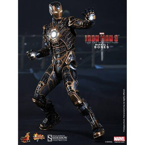 "Iron Man 3 Hot Toys 1/6th Scale Action Figure Iron Man Mark 41 ""Bones"" - Multi"