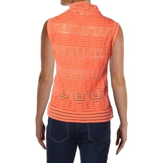 M Missoni Womens Sheer Textured Pullover Top
