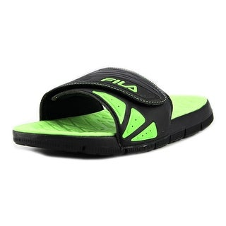 Fila Crosshatched Open-Toe Leather Sport Sandal
