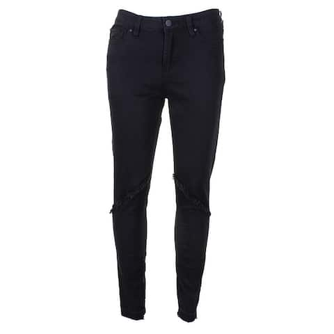 . State Black Super Wash Frayed Skinny Jeans