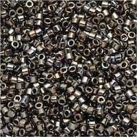 Miyuki Delica Seed Beads 11/0 - Galvanized Tarnished Silver DB254 7.2 Grams