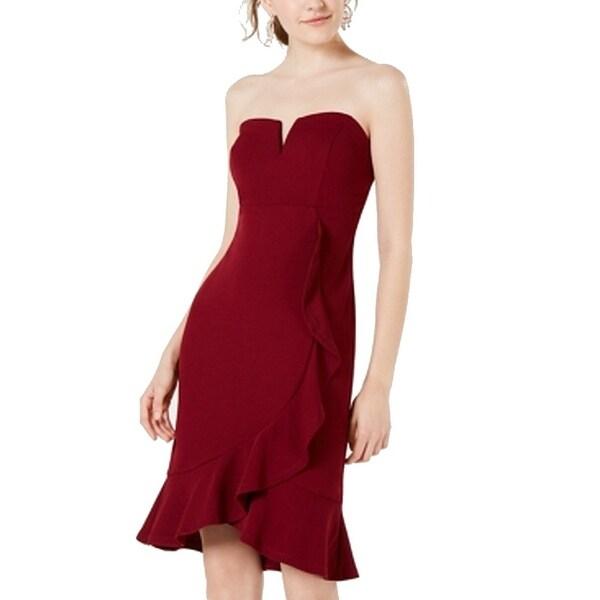 Teeze Me Junior's Sheath Dress Red Size