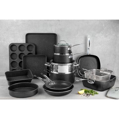 Granitestone Diamond Non Stick 20pc Complete Cookware and Bakeware Set