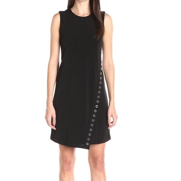 Calvin Klein NEW Black Grommet Trimmed Dress Women's Size 6 Sheath