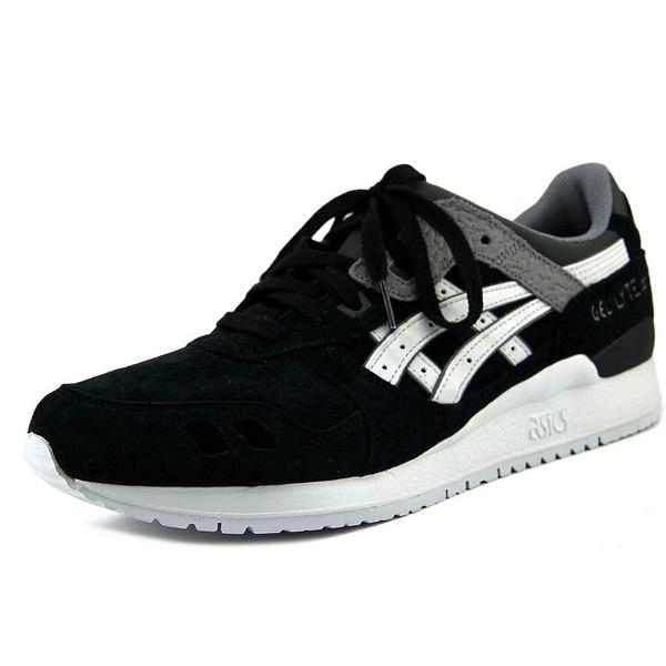 Asics Gel-Lyte III Men Round Toe Suede Black Sneakers