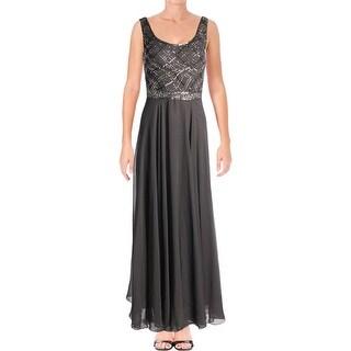 JKara Womens Evening Dress Chiffon Beaded - 8