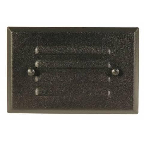 Moonrays 95757 Metal Recessed Low Voltage Deck Light, Black