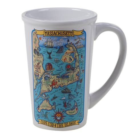 Certified International Massachusetts Souvenir Jumbo Mugs (Set of 6)