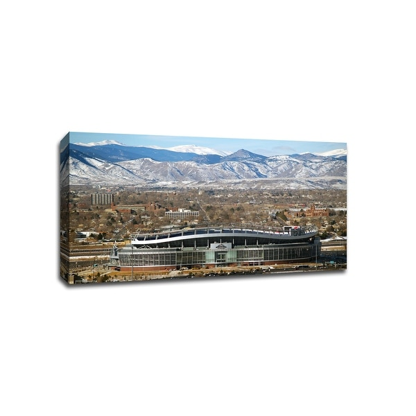 Denver Outside - NFL - 36x20 Gallery Wrapped Canvas Wall Art