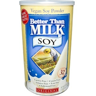 Better Than Milk Vegan Soy Powder, Vanilla, 22.4-Ounce Canisters (Pack of 2)