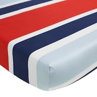 The Cocalo Collection Striped Fitted Crib Sheet