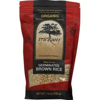 Truroots Organic Germinated Brown Rice - Whole Grain - Case of 6 - 14 oz.