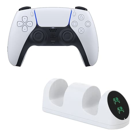 PS5 DualSense Controller with Charging Dock - White