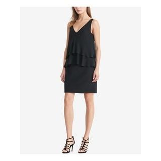 Link to RALPH LAUREN Black Sleeveless Knee Length Sheath Dress  Size 6 Similar Items in Petites