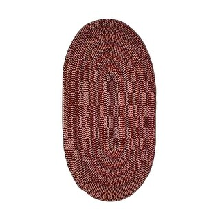 Oval Area Rug 11' x 8' Red Nylon