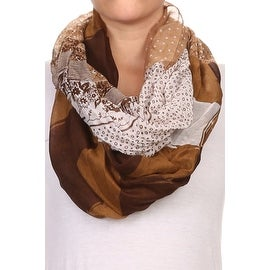 Mixed Print Wide Infinity Scarf Lightweight (3 options available)