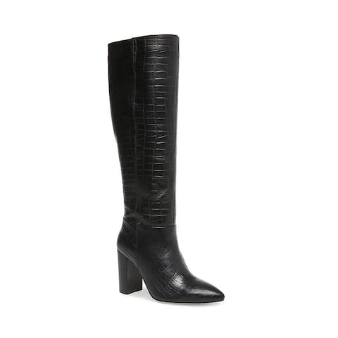 Steve Madden Womens Fenix Leather Pointed Toe Knee High Fashion Boots