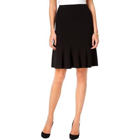 Nine West Womens A-Line Skirt Peplum Knee-Length - 16
