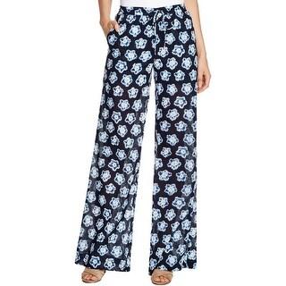 MICHAEL Michael Kors NEW Blue Women's Size Small S Floral Print Pants