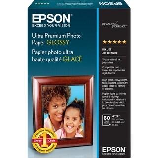 60-Sheet 4X6 Glossy Ultra Premium Photo Paper