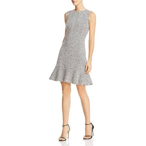 Rebecca Taylor Womens Tweed Shift Dress, pink, 4