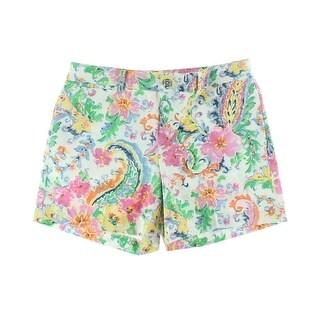 Lauren Ralph Lauren Womens Floral Print Flat Front Casual Shorts - 12