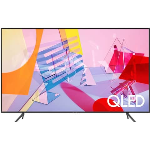 """Samsung Q60T Series 4k 50"""" Smart LED HDR TV,Grey (Refurbished) - Grey - 44 x 25.3 x 2.3 Inches (Without Stand)"""