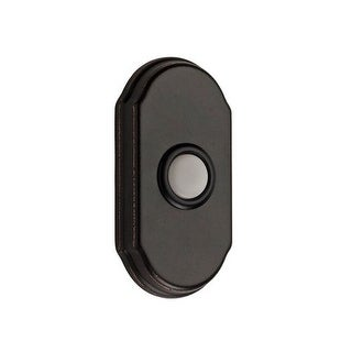 Baldwin BR7017 Solid Brass Arched Illuminated Bell Button from the Reserve Collection