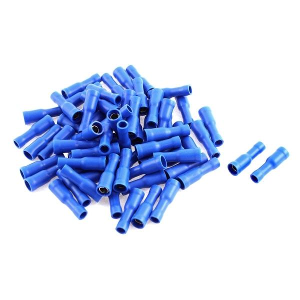 Unique Bargains 65pcs Blue Insulated Female Spade Crimp Terminal Connector for 16-14 AWG