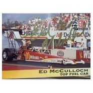 Signed McCulloch Ed 1992 Pro Set Racing Card autographed