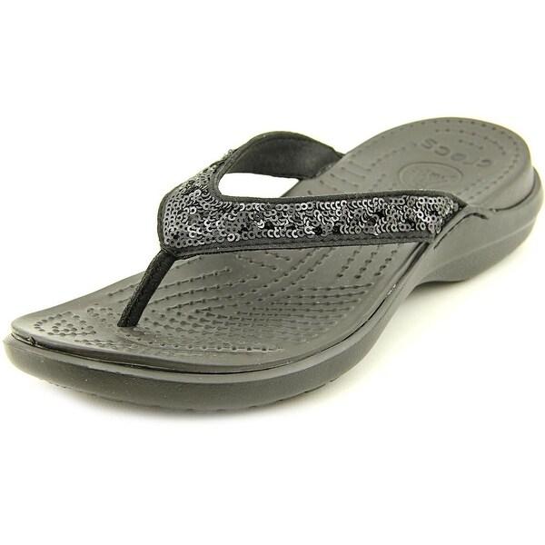 81d607d3c509c5 Shop Crocs Capri V Sequin Open Toe Synthetic Flip Flop Sandal - Free ...