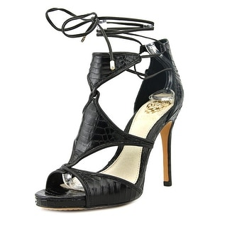 Vince Camuto Rae Women SS Open Toe Leather Black Sandals