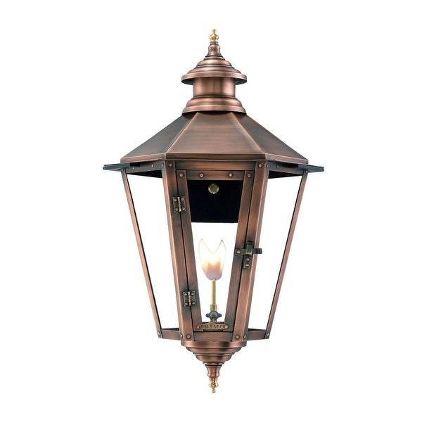 """Primo Lanterns NW-32G Nottoway 33"""" Wide Outdoor Wall-Mounted Lantern Natural Gas Configuration - Copper - n/a"""
