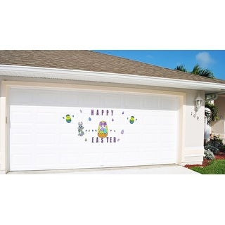 Happy Easter with Bunny, Basket and Eggs Magnetic Door Decorations