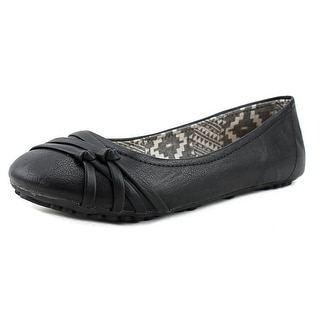 Jellypop Splendor Women Round Toe Synthetic Black Ballet Flats