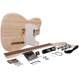 Seismic Audio Premium Tele Style DIY Electric Guitar Kit - Unfinished Luthier Project Kit