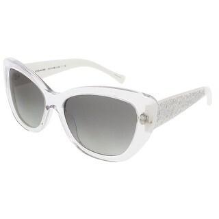 Coach HC8143B 531611 Crystal/White Cat Eye sunglasses