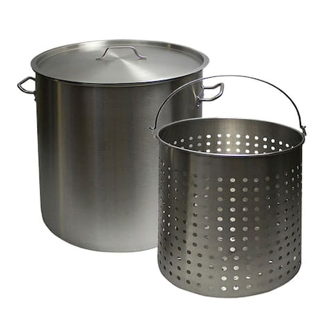 Chard SSPSB-24 24-Quart Stainless Steel Stock Pot with Basket