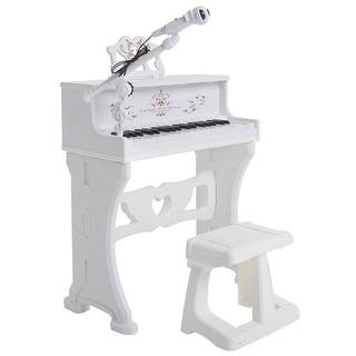 Costway 37 Key Kids Electronic Keyboard Mini Grand Piano Toy w/ Microphone & Stool White https://ak1.ostkcdn.com/images/products/is/images/direct/005787526d9754c21d71db58cfdbe1606507bdf2/Costway-37-Key-Kids-Electronic-Keyboard-Mini-Grand-Piano-Toy-w--Microphone-%26-Stool-White.jpg?impolicy=medium