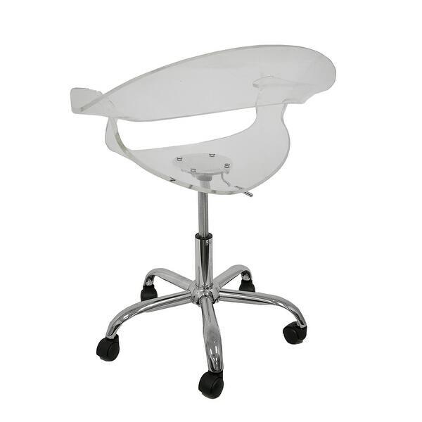 Astonishing Shop Clear Acrylic Adjustable Height Swivel Chair Free Evergreenethics Interior Chair Design Evergreenethicsorg