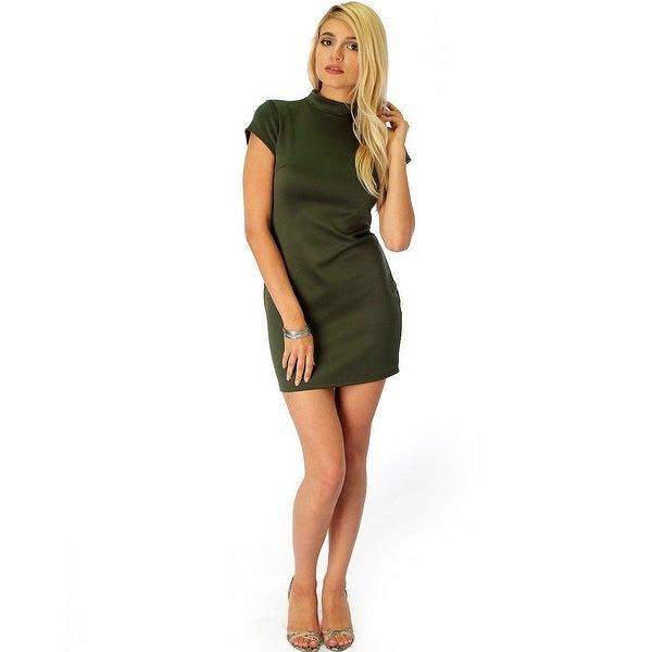29e891c5f1a9e show off olive bodycon dress-Olive-Medium