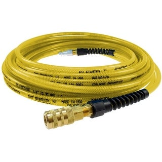 Coilhose Pneumatics PFE4050TYS15X Flexeel Hose With Quick Connect, Yellow