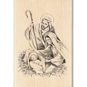 "Nativity - Inkadinkado Mounted Rubber Stamp 2.75""X4"""