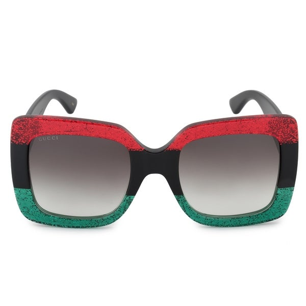 086adc3ee2d Shop Gucci GG0083S 001 55 Oversized Square Sunglasses - Free ...